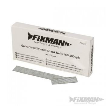 Clavos lisos galvanizados de 38 mm calibre 18 - 5000 piezas