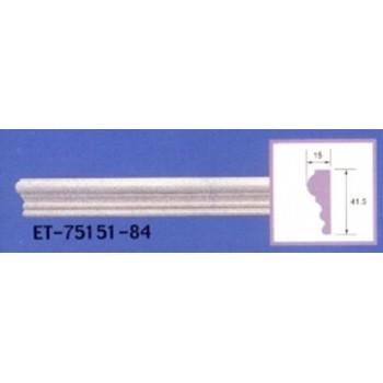Modanature da cornicione ET75151 lunghezza 2,40 m x larghezza 41,5 mm