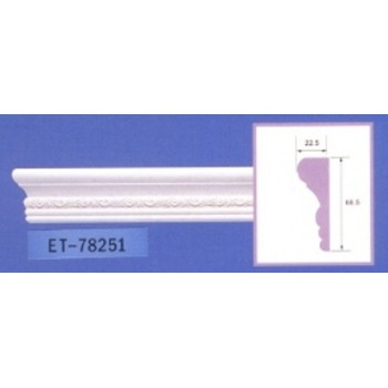 Molding cornices AND-78251 long 2.40 m x width 66.5 mm x ep 22.5 mm