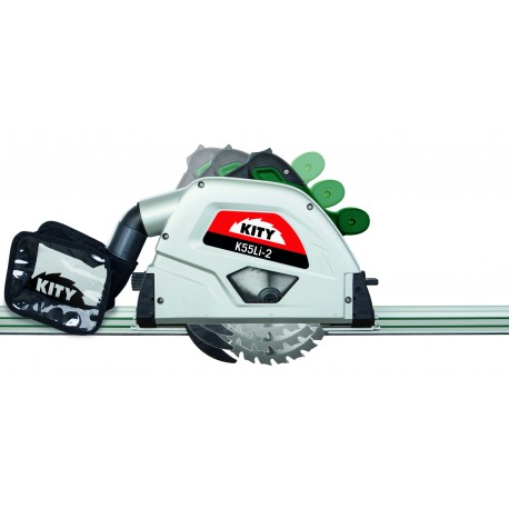Cordless plunge saw Kity K55LI included 2 rails of 700mm and 2 battery !