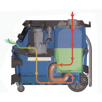 Staubsauger Edelstahlbehälter Wasser und Staub Scheppach ASP30