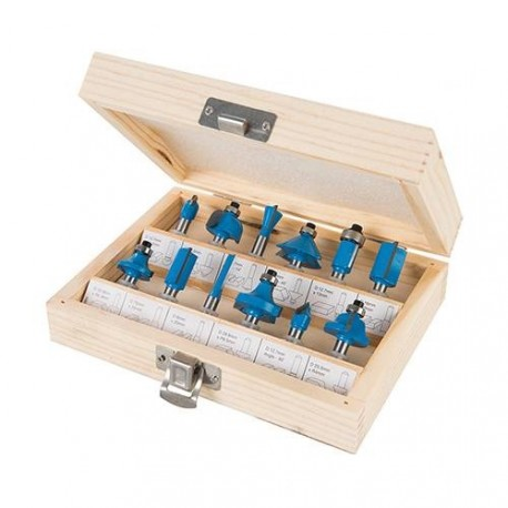 12 pieces router bit sets - Shank 6.35 mm