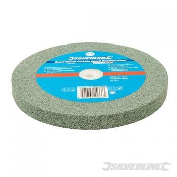 Meule en carbure de silicium vert pour touret à meuler 200 mm