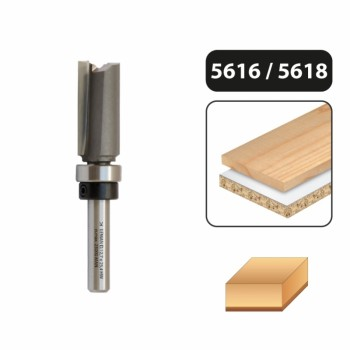 Flush trim router bit 12.7 mm with top guide - shank 8 mm