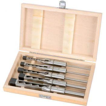 Cuadro de juego de 5 brocas y mortaja cinceles, dia 6-8-10-12 y 16 mm, la cola 19mm