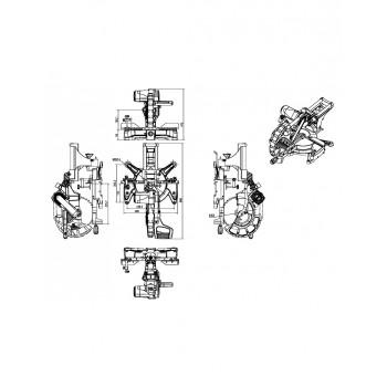 Sliding radial miter saw with dual tilt Ø305 Holzprofi SRO305
