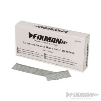 Chiodi a gambo liscio zincato in 19 mm calibro 18 - 5000 pezzi