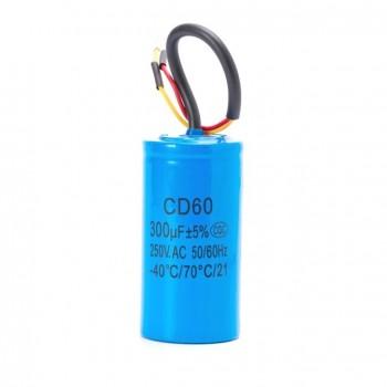 Condensateur de démarrage à fils 300µf 250V