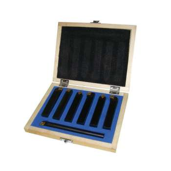 Outils de tournage à plaquettes carbure queue de 12 mm pour tour à métaux (7 pièces)