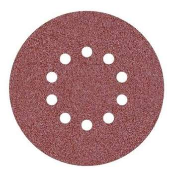 Abrasive disc velcro 10 holes 225 mm for giraffe sander Grain 40 - Professional quality (Pack of 10)