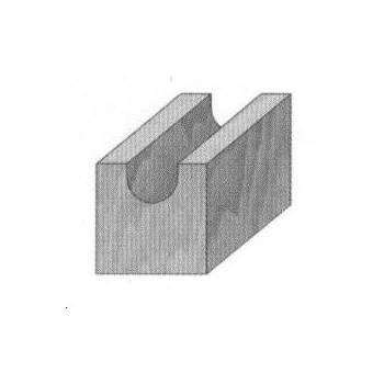 Round nose router bit radius 8 mm - Shank 12 mm