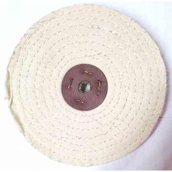 Disque de polissage sisal coton 200 mm pour touret à meuler