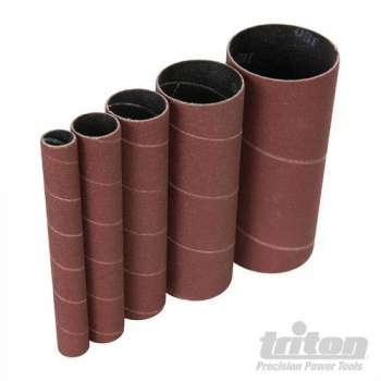 Manchon abrasif hauteur 114 mm pour ponceuse oscillante, grain 150 - Lot de 5 diamètres