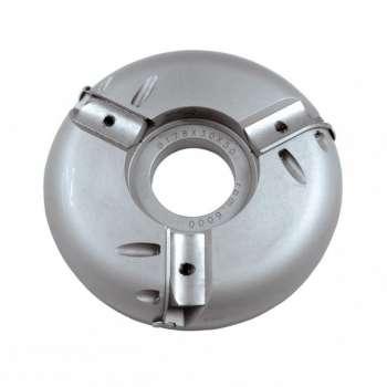 Porte outils plate bande tonneau Ø180 mm pour toupie arbre de 50 mm - travail dessous