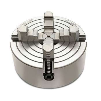 Portabrocas de 4 mordazas 100 mm para torno de metal y brida de montaje
