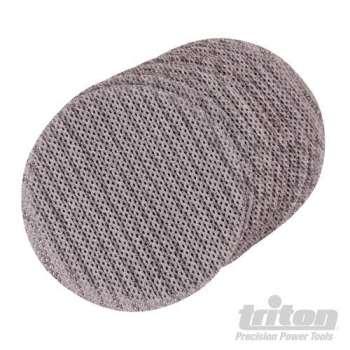 Disque abrasif velcro treillis 125 mm pour le plâtre Qualité Pro - Grain 80, le lot de 10