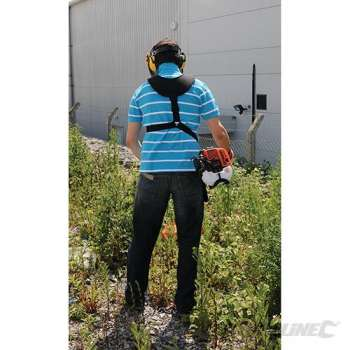 Harness for garden tool and...