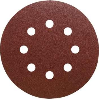 Disque abrasif velcro 8 trous 150 mm Grain 40 - Qualité Pro (50 pièces) !