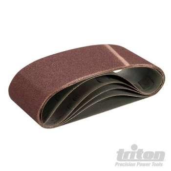 Bande abrasive 100x610 mm sur support toile, grain 100, le lot de 5