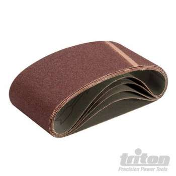 Bande abrasive 533X75 mm support toilé Triton grain 80, le lot de 5