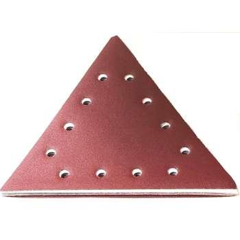 Abrasif triangulaire velcro grain 80 pour ponceuse à plâtre Scheppach DS200 - Lot de 10