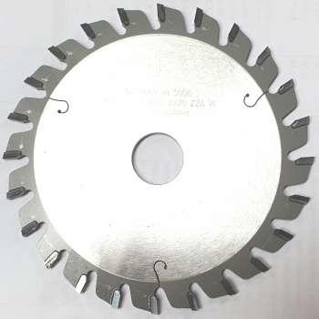 Inciseur carbure 120 mm alésage 20 mm - 24 dents pour combiné et scie à format