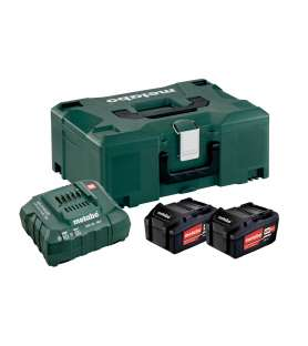 Chargeur + 2 batteries Metabo Li-Power 18V en 4,0 Ah en coffret Métaloc