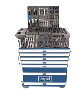 Servante d'atelier équipée d'outils Scheppach TW1100