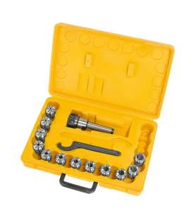 Mandrin porte-pinces MT3 et 13 pinces ER32