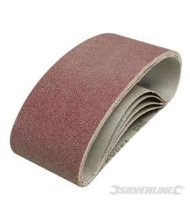 Bande abrasive 75x457 mm, grain 60, le lot de 5
