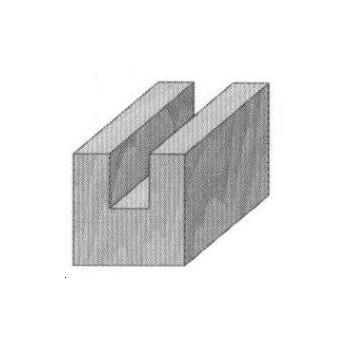 Fresa de corte recto para canales Ø 6 mm serie corta - Cola 8 mm