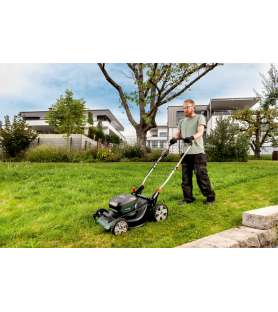 Cordless lawn mower Metabo...