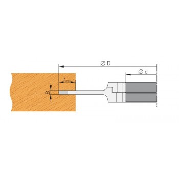 Grooving cutter adjustable 5 to 9.5 mm with TC reversibles blades