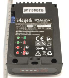 Batterie 1,5Ah Li 14V pour tondeuse Scheppach