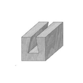 Dovetail router bit Ø12,7 mm - Shank 8 mm