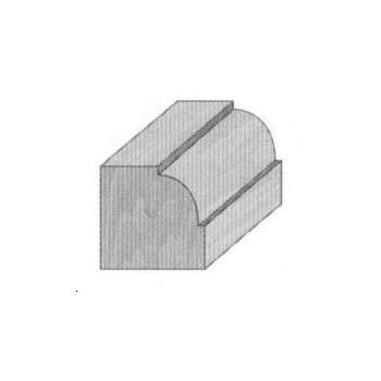 Ovolo router bit radius 9.5 mm - Shank 6 mm