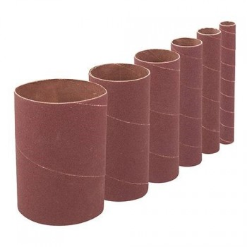 Bobbin Sleeves height 114 mm grit 240 for oscillating sander - Set of 6 diameters