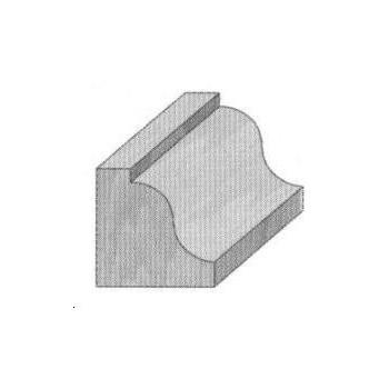 Roman ogee router bit Ø 28.7 - Shank 6 mm