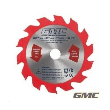 Circular saw blade dia 127 mm bore 17 mm - 14 teeth