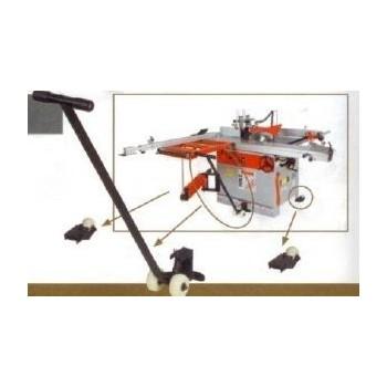 Kit de déplacement avec levier de levage pour machine 400 kg max