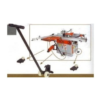 Universal moving device with lever for woodmachine 400 kg max