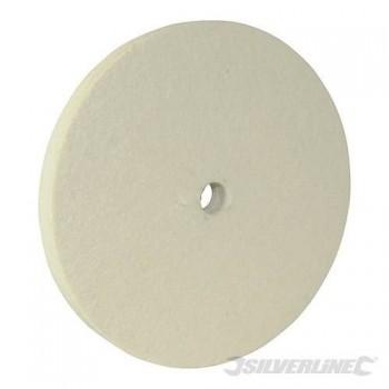 Tampon polissoir en feutre diamètre 150 x epaisseur 13 x alésage 12 mm