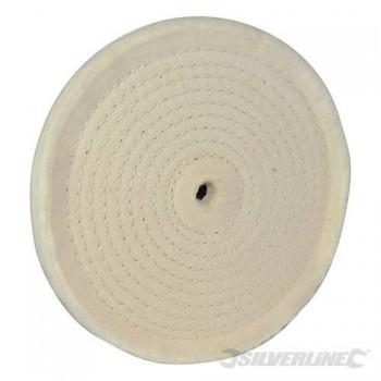 Tampon polissoir coton en spirale diamètre 150 mm alésage 12 mm