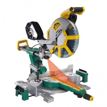 Sliding radial miter saw dual tilt Ø305 Kity MS305DB with 2 blades carbide