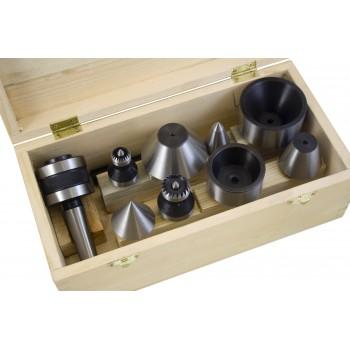 Set di contropunta con 1 soporto CM1 per tornio a legno
