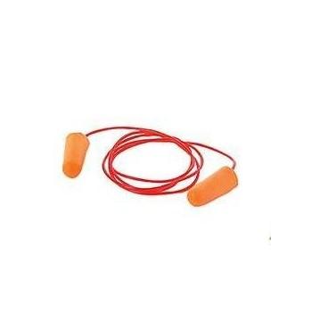 Gehörschutzstöpsel mit Kordel, SNR: 34 dB, 200 Paare