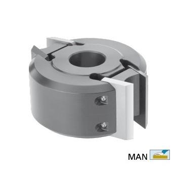"""Porte-outils à moulurer en acier de type """"sécurité"""" hauteur 40 dia 78 (puits maxi 120mm)"""