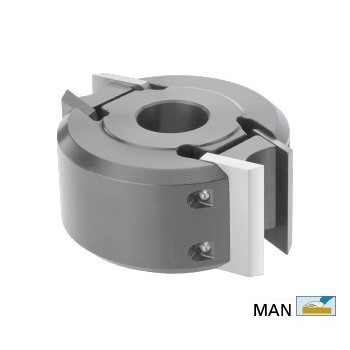 """Porte-outils à moulurer en acier de type \""""sécurité\"""" hauteur 40 dia 78 (puits maxi 120mm)"""