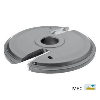 Wendeplatten-Abplattfräser Ø160 mm - Ausführung oben