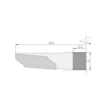 Porte-outils à plate-bande dia 160 mm - Travail dessous